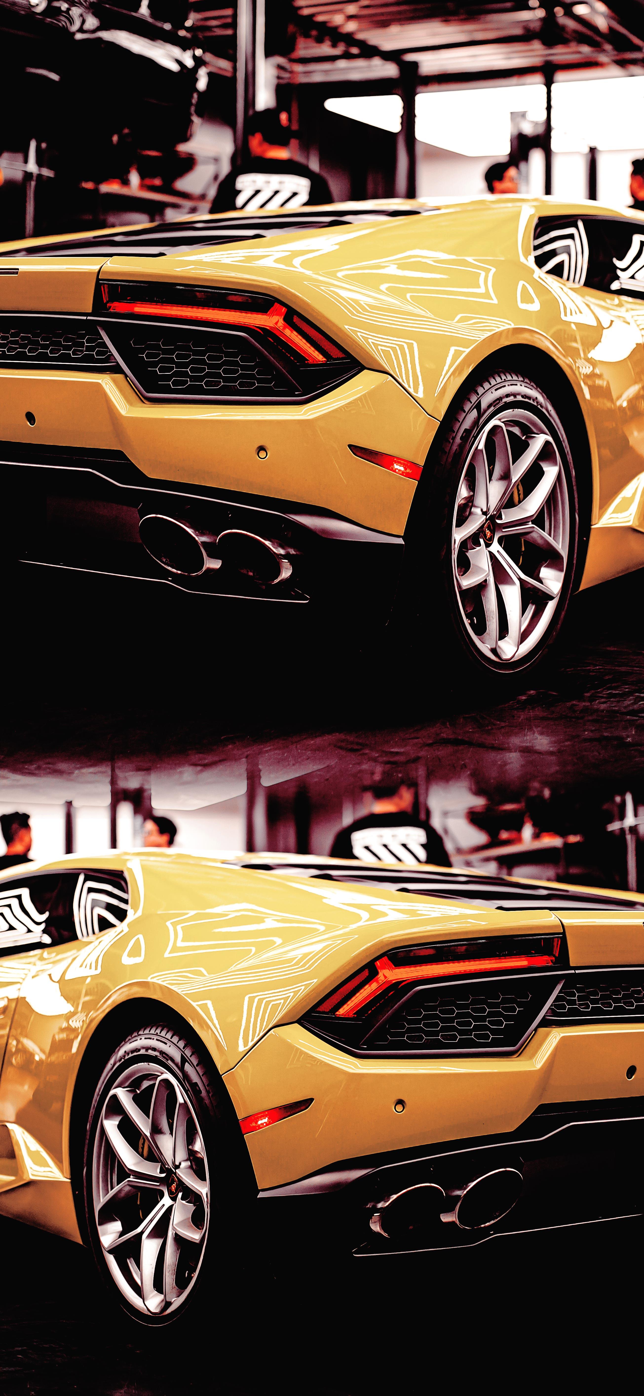 cool-yellow-huracan-Lamborghini-car-wallpaper